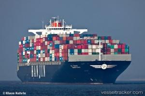 Das Schiff mit Dschibonka an Bord am 12.11. vor Hamburg